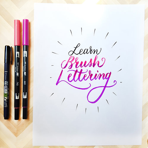 May 15th - Brush Marker Lettering - IN PERSON