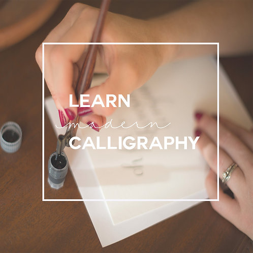 August 10th - Intro to Modern Calligraphy - CityArts