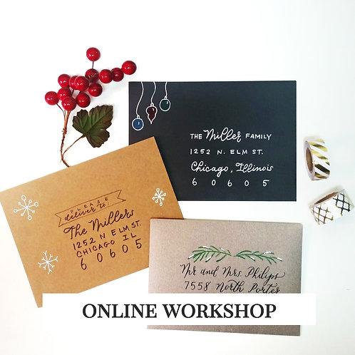 ONLINE - Holiday Envelopes Workshop