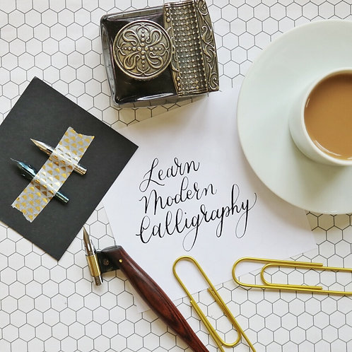 February 21, 2021 - ONLINE - Intro to Modern Calligraphy