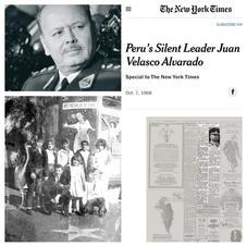 """Hubo una ola migratoria peruana en los años 60 y 70 durante el Gobierno de la Dictadura de Grl. Juan Velasco Alvarado, seguido de Grl. Francisco Morales- Bermudez. """"Hubo un aumento significativo en el número de peruanos que residen en Estados Unidos; primero, miembros de las clases media y alta que huyen del gobierno de Velasco; luego, miembros de las clases que huían del deterioro económico del Perú. Pasó de 7,201 en 1960 a 55,496 en 1980 """". (Richard J. Walter: """"Perú y Estados Unidos, 1960-1975"""" -Blog de Norberto Barreto Velázquez). """"Los golpistas nombraron a su administración Gobierno Revolucionario de las Fuerzas Armadas. El gobierno de Velasco se caracterizó por políticas de izquierda, nacionalizó industrias enteras, expropió empresas en una amplia gama de actividades. También se caracterizó por el autoritarismo, encarcelamiento periódicamente, deportación de presuntos opositores políticos, expropiación final de todos los periódicos en 1974 y exilio de los editores. La reforma agraria del Perú bajo Velasco fue la segunda reforma agraria más grande en la historia de América Latina, después de Cuba """". (wikipedia) El New York Times escribió: """"El costo de vida ha aumentado un 40 por ciento en cinco meses, y en Lima el desempleo ha agregado más trabajadores a la ya grande masa de asalariados ocasionales. Sin crédito y asistencia técnica, las tierras expropiadas a los antiguos propietarios proporcionarán poco más que la subsistencia para la mayoría de los campesinos. Los militares consideran que el malestar potencial entre los desempleados urbanos y los pobres de las zonas rurales es un problema de seguridad """"."""