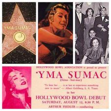 """La extraordinaria cantante peruana Yma Sumac se hizo famosa internacionalmente en Hollywood. Grabó en Capitol Records en Vine St. y protagonizó películas de Hollywood. Yma Sumac y su """"voz milagrosa de 5 octavas"""" se han convertido en una leyenda. Sus canciones se utilizan incluso hoy en día en películas de Hollywood y sus fans están en todo el mundo. """"Yma Sumac fue uno de los exponentes más famosos de la música exótica durante la década de 1950. Sumac se convirtió en un éxito internacional gracias a su rango vocal extremo. Tenía cinco octavas según algunos informes ... Fue descubierta por Les Baxter, y firmó con Capitol Records en 1950, momento en el que su nombre artístico se convirtió en Yma Sumac. Su primer álbum, Voice of the Xtabay, lanzó un período de fama que incluyó presentaciones en el Hollywood Bowl y el Carnegie Hall. La década de 1950 fueron los años de mayor popularidad de Sumac. Publicó varios álbumes de éxito para Capitol Records, como Mambo! (1954) y Fuego del Ande (1959). Durante el apogeo de la popularidad de Sumac, apareció en las películas Secret of the Incas (1954) con Charlton Heston y Robert Young y Omar Khayyam (1957). Se convirtió en ciudadana estadounidense el 22 de julio de 1955. En 1959, interpretó la canción clásica de Jorge Bravo de Rueda """"Vírgenes del Sol"""" en su álbum Fuego del Ande """". (wikipedia)  Yma Sumac fue honrada con una estrella del Paseo de la Fama de Hollywood en Hollywood Blvd. (esquina con Wilcox Ave.) y ella descansa en el cementerio Hollywood Forever en Santa Monica Blvd., formando desde ahí como 2 brazos que abrazan el área propuesta para """"Peru Village."""""""