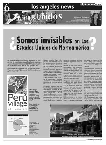 El Peruano USA - Pgs. 6 & 7