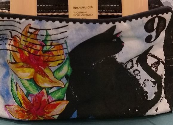 Cat Postage Stamp Cosmetic Bag