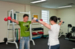 Weight training with an exercise physiologist