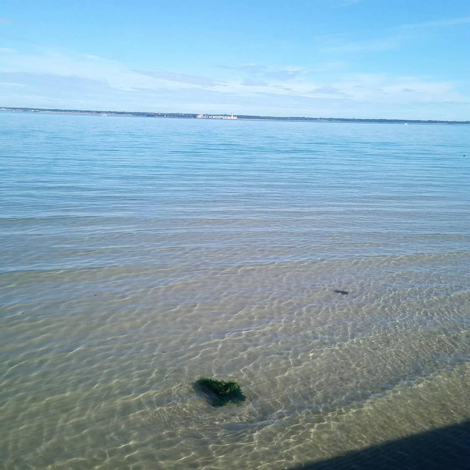 Clear waters of Colwell Bay