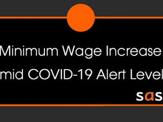 Minimum Wage Increase Amid COVID-19 Alert Level 4