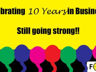 Celebrating......moving, 10 years plus more..