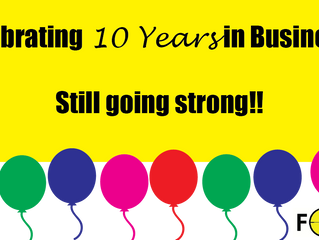 Celebrating......moving, 10 years plus more..