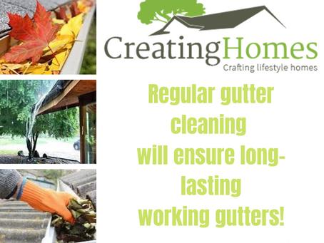 Regular gutter cleaning will ensure longer lasting working gutters!