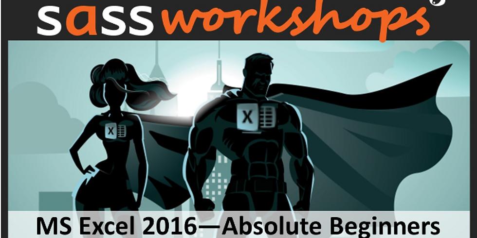 Microsoft Excel 2016 - Absolute Beginners