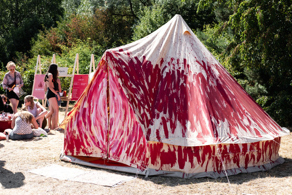the red tent - festival activism