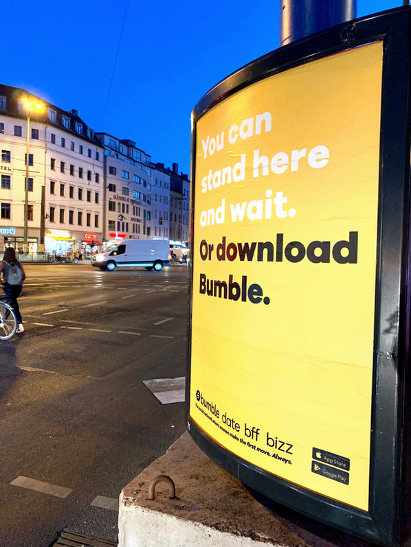 bumble germany - 2019 OOH campaign in berlin