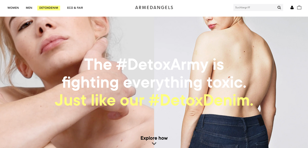armedangels: introducing the #detoxarmy