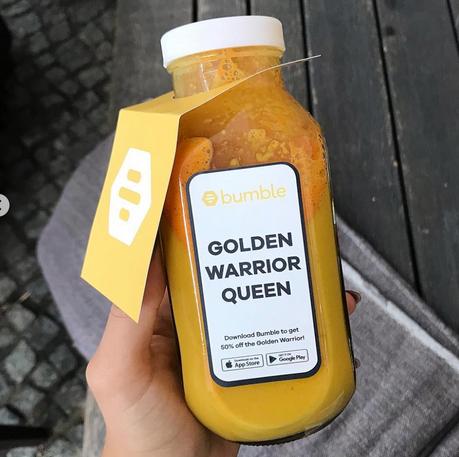 bumble x daluma collaboration featuring the 'golden warrior queen'