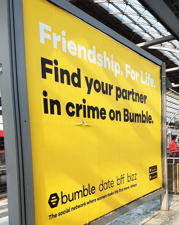 bumble germany - OOH campaign in berlin