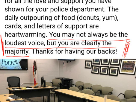 Response to Walnut Creek Police Department 10/12/20 Facebook post