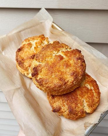 Hot Honey Cornmeal Biscuit