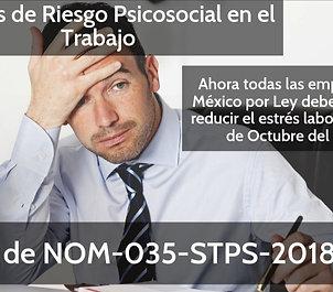 Curso: NOM-035-STPS-2018, Factores de Riesgo Psicosocial