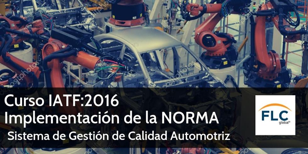 Curso: IATF 16949:2016: Interpretación de la Norma