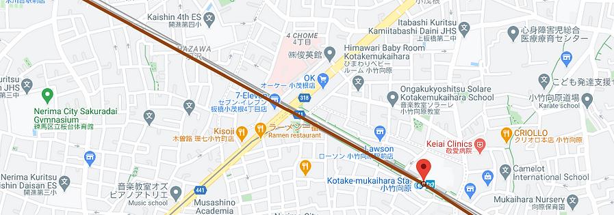 Map of Kotake-mukaihara, Tokyo