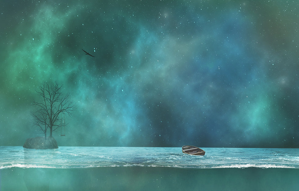 escape, floating islands, swing