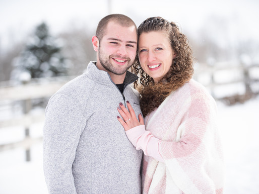 A Cold Winter Engagement Session at Old Hickory Farm in Weedsport, NY