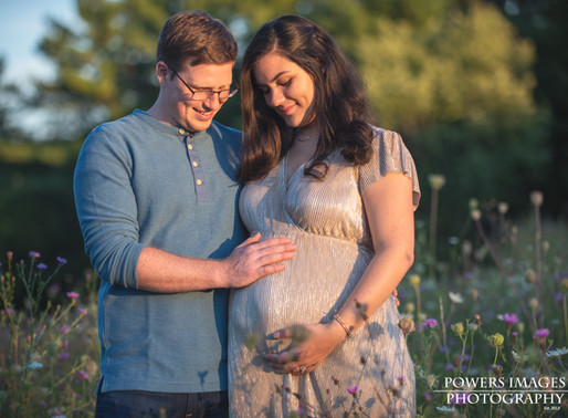 Amanda and Christian's Maternity      Session at Green Lakes State Park