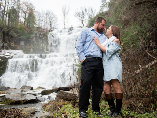 Bill and Jada's Engagement Session at Chittanengo Falls in Chittenango Falls , NY