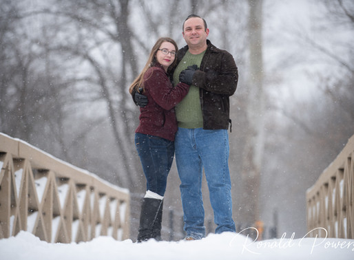 A Cold Winter Engagement Session at the Weedsport Aqueducts in Weedsport, NY