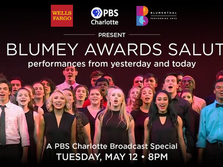For the first time ever, The Blumey Awards will take place digitally on PBS Charlotte