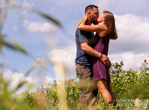 A Sunflower Field Engagement Session with Chris and Kelsey in Elbridge, NY