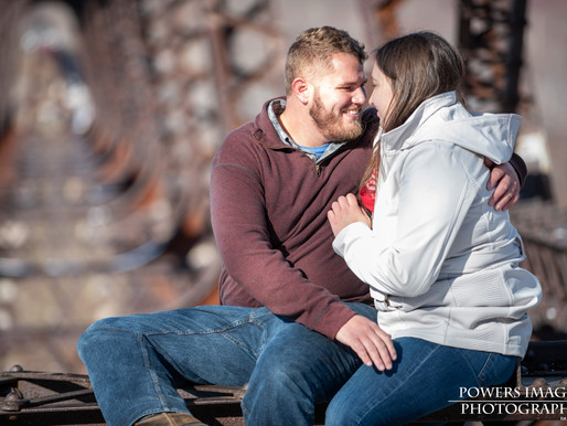 Cody and Rachel's Engagement Session at Kinzua Bridge State Park in Kane, PA
