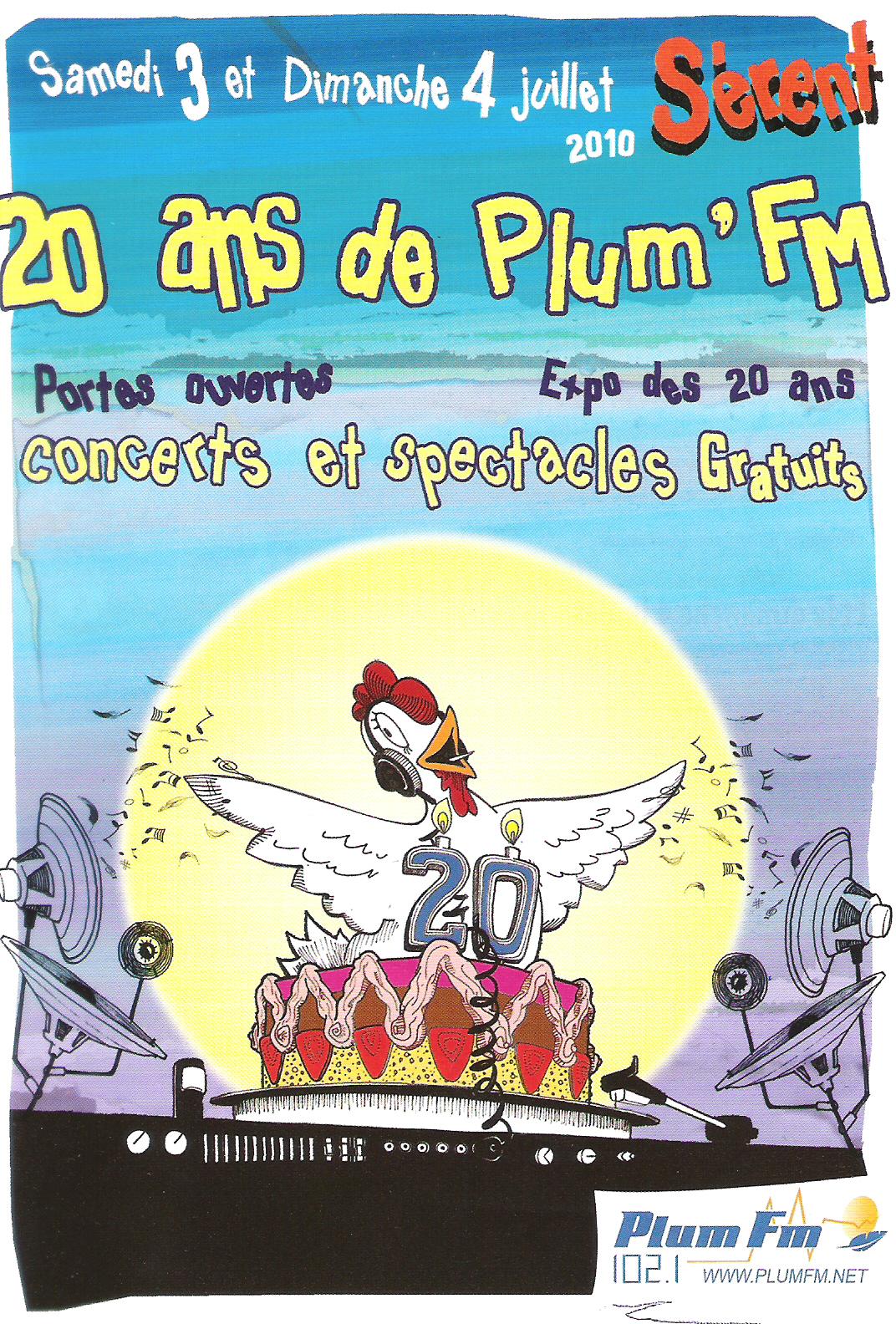 Affiche 20ans plum'fm 2010