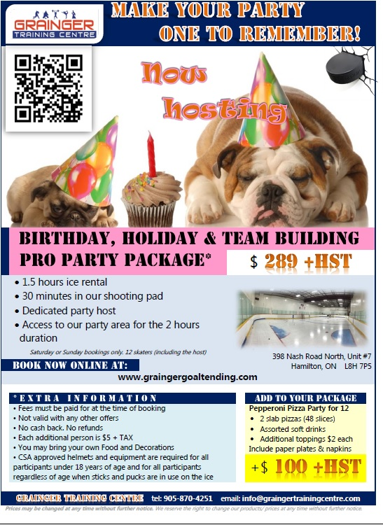 2017 Birthday Party Flyer
