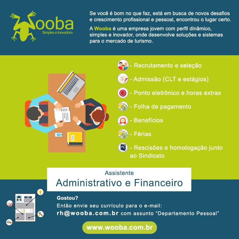 Wooba Contrata Assistente Administrativo e Financeiro