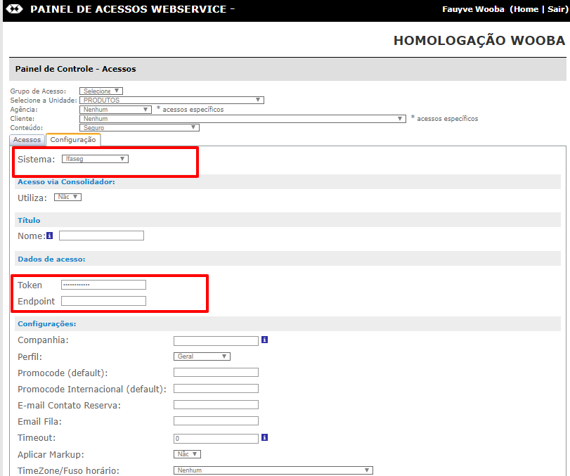 Wooba Informa - Cadastro de Credencial IFASEG