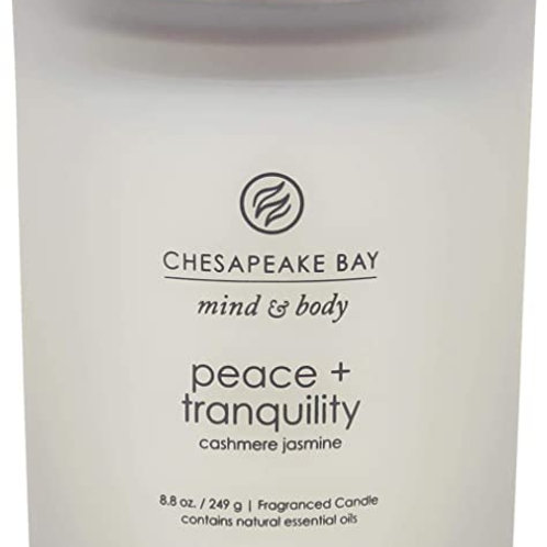 Peace + Tranquility (Cashmere Jasmine) Scented Candle