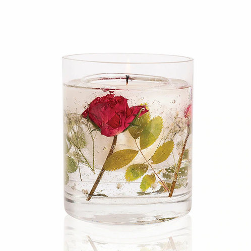 Nature's Gift Red Rose Natural Wax Gel Candle Vase
