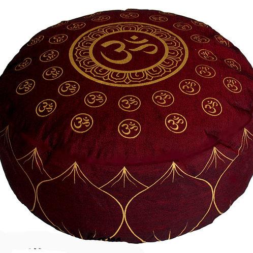 "Meditation Cushion ""Om Universe"" Burgundy"
