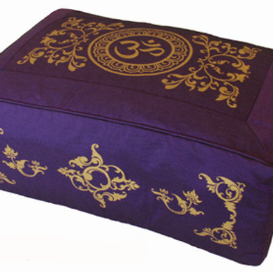"RECTANGULAR MEDITATION CUSHION PILLOW ""OM IN LOTUS"""