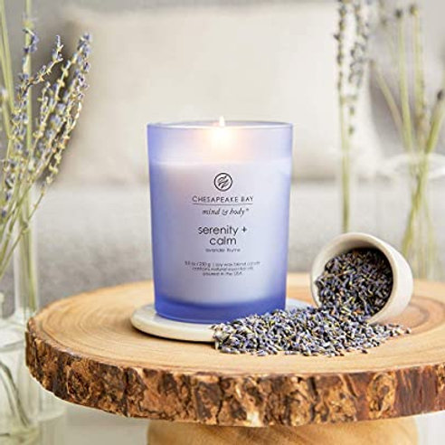 Serenity + Calm (Lavender Thyme) Scented Candle