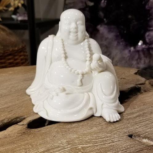 CERAMIC SITTING HAPPY BUDDHA