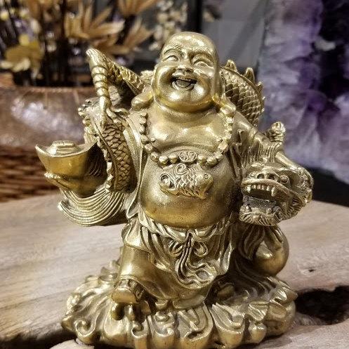 COPPER HAPPY BUDDHA