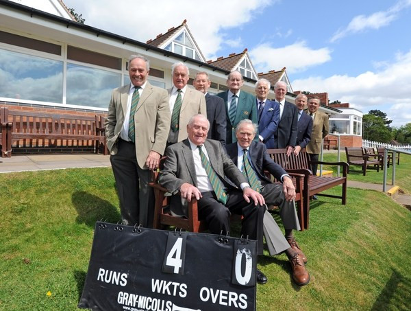 The legends of 73 at a reunion to mark the 40th anniversary of the Lord's win, front, from left to right, David Barnes, and Don Crofts, back, left to right, Peter Evans, Jim Turner, Nick Stroudley, Ron Davies, Don Lowe, Gerry Hill, Geoff Hopkinson and Mike Marcus (courtesy of the Express and Star