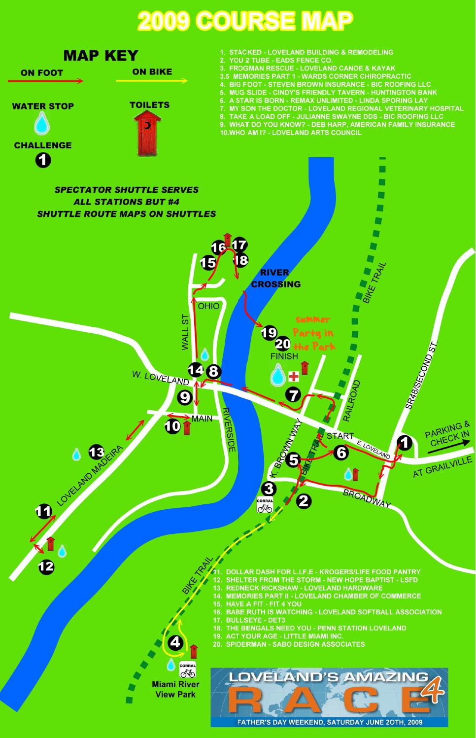 2009 Coursemap