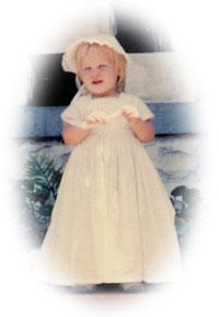 Karen as a baby