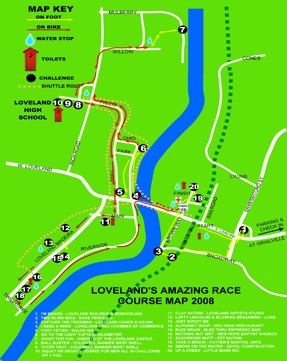 2008 Course Map