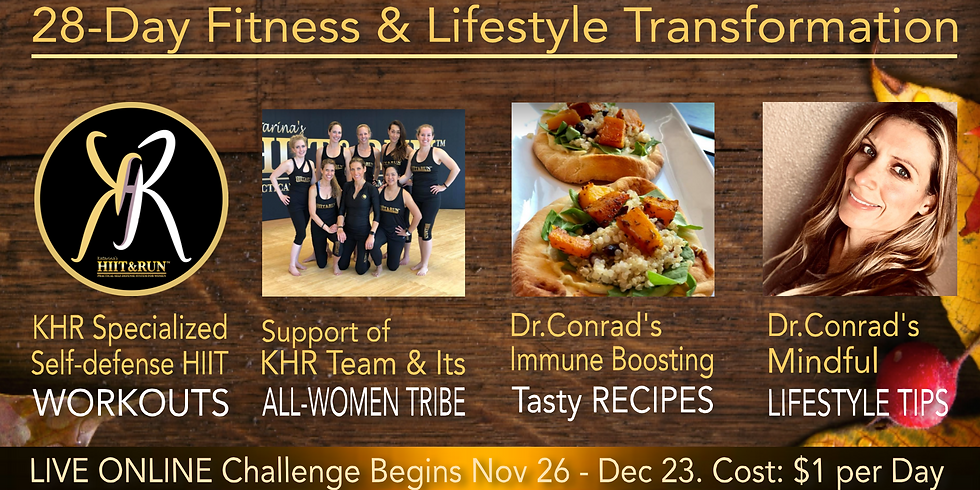 28-Day ONLINE KHR Fitness & Lifestyle Holiday Challenge
