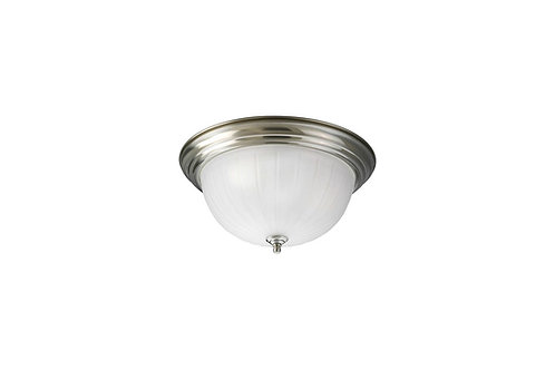 P3817-09 Progress Brushed Nickel Flush Mount Ceiling Light
